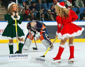 I bet the goalie asked santa for a menage a trois.