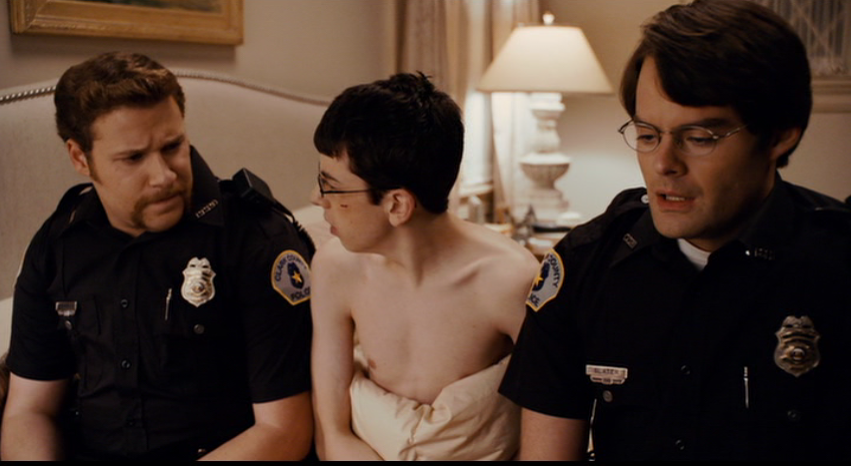 superbad cops. In Superbad Seth plays a dumb